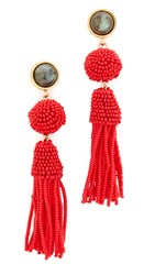 Lizzie Fortunato Havana Earrings Gold Red