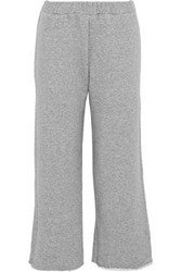 Simon Miller Canal French Cotton Terry Track Pants Gray