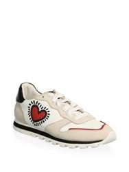 Coach X Keith Haring Runner Heart Sneakers Chalk Red