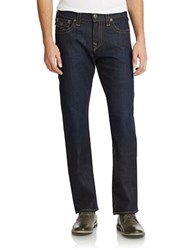 True Religion Ricky Relaxed Straight Jeans Blue