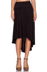 Splendid Hi Lo Maxi Skirt Black