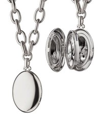 Monica Rich Kosann Premier Sterling Silver Locket Necklace 18