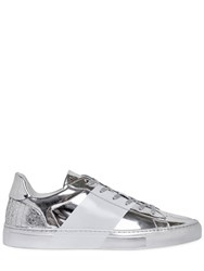 Bikkembergs Sport Couture Metallic Leather Sneakers