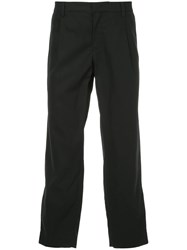 Ck Calvin Klein Cropped Tailored Trousers Blue