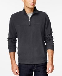Club Room Big And Tall Quarter Zip Mock Neck Fleece Only At Macy's Nine Iron
