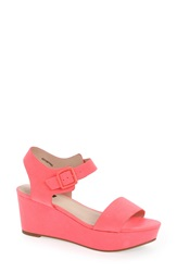 Topshop 'Heavenly' Wedge Sandal Pink