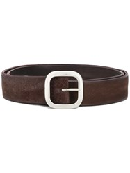 Orciani Squared Buckle Belt Brown