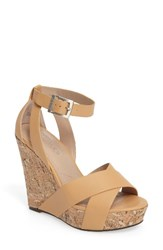 Charles By Charles David Women's Amsterdam Platform Wedge Sandal Natural Smooth