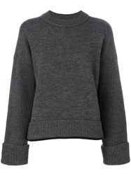 Dsquared2 Ribbed Sweater Women Virgin Wool Polyester Xs Grey