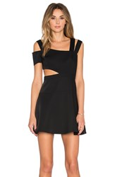 Bcbgmaxazria Strappy Mini Dress Black