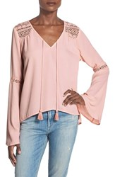 Women's Band Of Gypsies Bell Sleeve Peasant Blouse