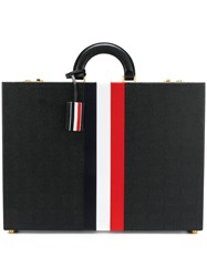 Thom Browne Attache Case With Red Black