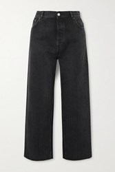 Balenciaga Tube Cropped Low Rise Straight Leg Jeans Black