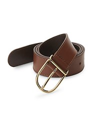 Saks Fifth Avenue Slim Leather Belt Cognac