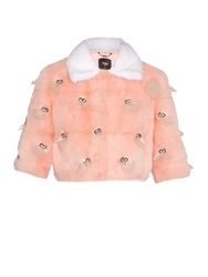 Fendi Bug Eyes Embellished Mink Fur Jacket