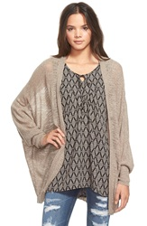 Bp Lightweight Open Front Cardigan Grey Taupe