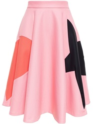 Msgm Heart And Star Skirt Pink And Purple