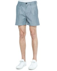 Versace Pleated Bermuda Shorts Gray