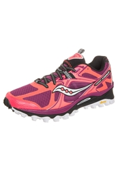 Saucony Xodus 5.0 Trail Running Shoes Vizicoral Berry