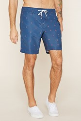 Forever 21 Anchor Print Swim Trunks