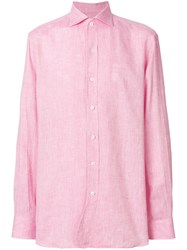 Doppiaa Buttoned Up Shirt Pink And Purple