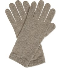Johnstons Knitted Cashmere Gloves Moondust