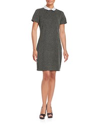 Tommy Hilfiger Collared Sheath Dress Charcoal