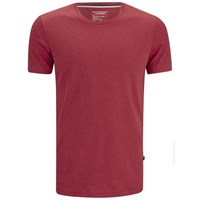 J. Lindeberg J.Lindeberg Men's Axtell Crew Neck Slim Fit T Shirt Red Deep Melange