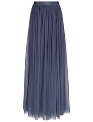 Needle And Thread Slate Blue Tulle Maxi Skirt