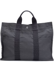 Herma S Vintage 'Fourret' Tote Grey