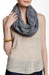 Leto Floral Infinity Scarf Gray