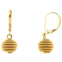 Monet Spiral Ball Hook Drop Earrings Gold