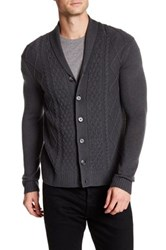 Quinn Cable Stitch Cardigan Gray