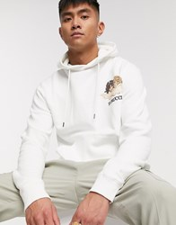 Fiorucci Hoodie In White With Small Angels Logo