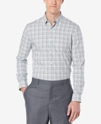 Perry Ellis Men's Multi Plaid Long Sleeve Shirt Chromite
