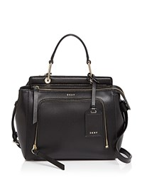 Dkny Small Top Handle Satchel Black Gold
