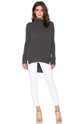 Velvet By Graham And Spencer Frenchie Cashmere Blend Turtleneck Charcoal