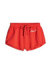 Re Done Cotton Shorts Red