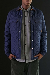 Cpo Russo Quilted Shirt Jacket Navy