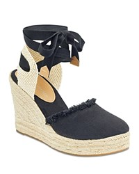 Ivanka Trump Women's Iara Platform Wedge Espadrille Sandals Black
