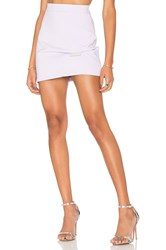 By Johnny Lilac Fold Mini Skirt Purple