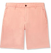 Faherty Stretch Cotton Shorts Orange