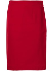 Moschino Vintage 1990'S Straight Skirt Red