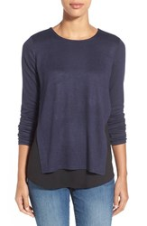 Women's Rd Style Layered Look Top Dark Ink