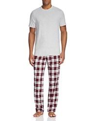 Ugg Grant Pajama Box Set Seal Heather Plaid Timeless Red