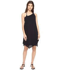 Michael Michael Kors Sunny Island One Shoulder Draped Dress Cover Up Black Women's Swimwear
