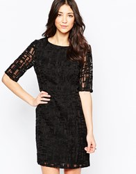 Lavand Textured Pencil Dress Black
