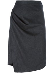 Vivienne Westwood Anglomania Asymmetric Straight Skirt Grey