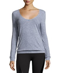 Lanston Back Drape Pullover Medium Gray