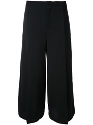 Max Tan 'Flapped' Cropped Trousers Black